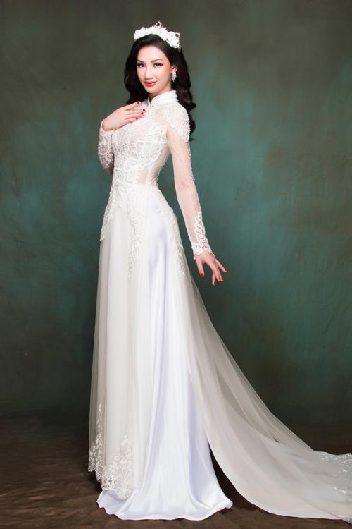 Quỳnh Chi chọn áo dài cưới giúp cô dâu yêu kiều như công chúa - 10