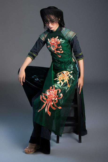 Trà My Next Top diện áo dài thêu thủ công của Vũ Việt Hà - 4