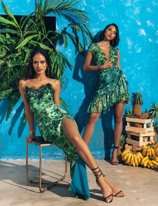 Tropicana Havana được tạo điểm nhấn đặc sắc bởi những hoạ tiết hoa lá nhiệt đới, điểm xuyết những hoạ tiết thú rừng và côn trùng.