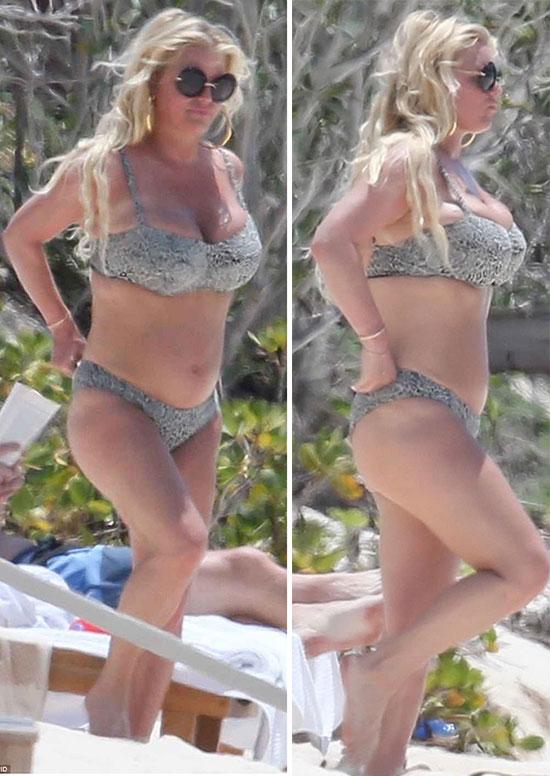 Người đẹp 37 tuổi lộ thân hình tròn trịa.