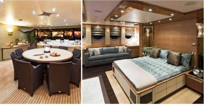 Chiếc du thuyền của Nicole Kidman đủ chỗ cho 7 hành khách đi chơi dài ngày trên biển.