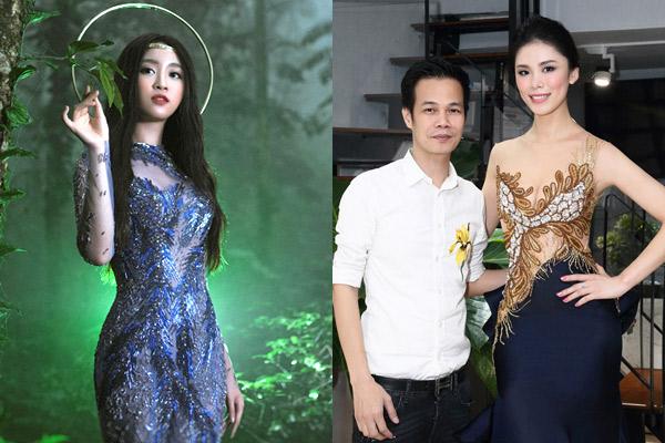 Hoa hậu Đỗ Mỹ Linh và Hoa hậu Hoàn vũ Riyo Mori có mối quan hệ thân thiết với nhà thiết kế Hoàng Hải.