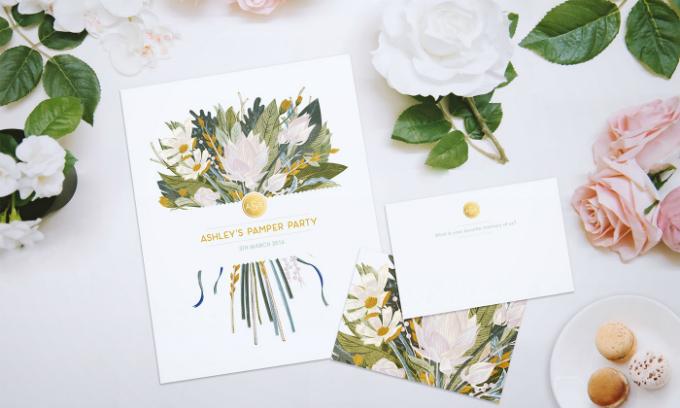 Màu sắc trên thiệp cưới cần có sự hài hòa.