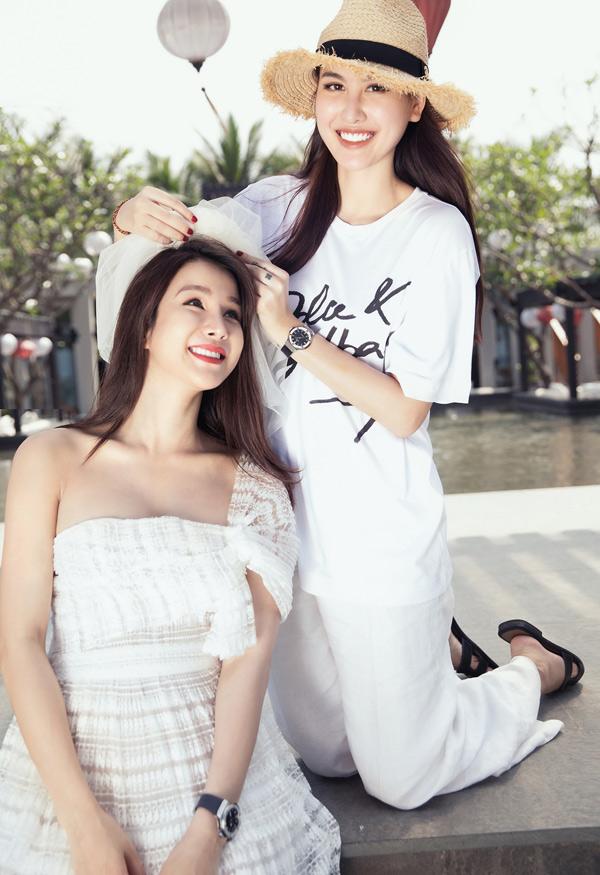Hot girl Hà Lade mới gia nhập nhóm bạn với Diệp Lâm Anh.