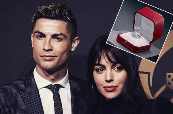 Nhẫn kim cương được C. Ronaldo tặng bạn gái. Ảnh: NS.