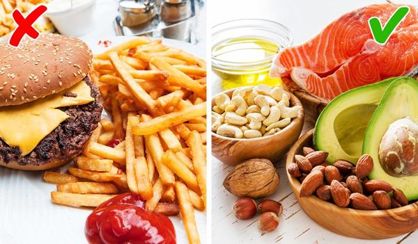 Ăn ít calories hơn Một nghiên cứu khoa học thực hiện trên loài khỉ trong hai năm đã cho ra kết quả, nhóm khỉ có chế độ ăn ít calories hơn thì sống lâu hơn nhóm còn lại. Hãy điều chỉnh chế độ ăn, cắt giảm lượng calories không cần thiết từ đồ ăn nhanh, thức uống có ga. Tăng cường ăn thực phẩm xanh hay các loại hạt. Một nghiên cứu gần đây của Đại học Scranton cho thấy quả óc chó chứa nhiều chất chống oxy hóa nhất trong các loại thực phẩm. Ăn 3 quả óc chó mỗi ngày sẽ giúp bạn khỏe mạnh và trẻ trung hơn.