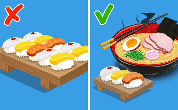 Bữa ăn của người Nhật bao gồm đủ các nhóm thành phần dinh dưỡng.
