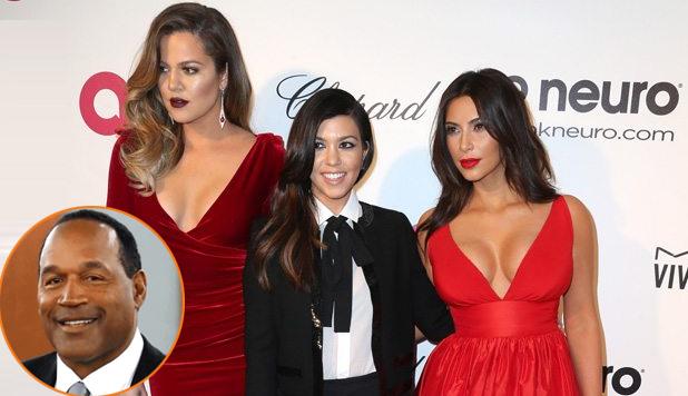 Khloe Kardashian (ngoài cùng bên trái) bị đồn là con riêng của ông O.J. Simpson.