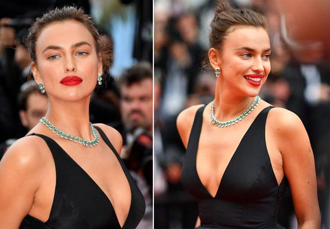Irina Shayk diện đầm đen vẫn tỏa sáng trên thảm đỏ Cannes - 2