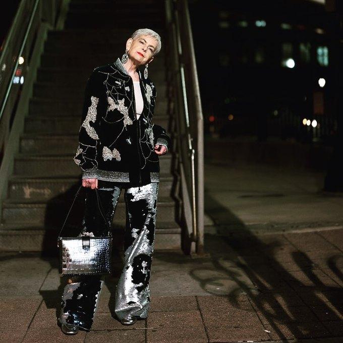 Gu thời trang ấn tượng của nữ giáo sư U70