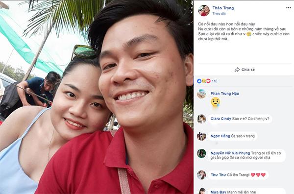Thảo Trang và hiệp sĩ Nguyễn Hoàng Nam chụp lưu niệm trong một lần đi chơi.