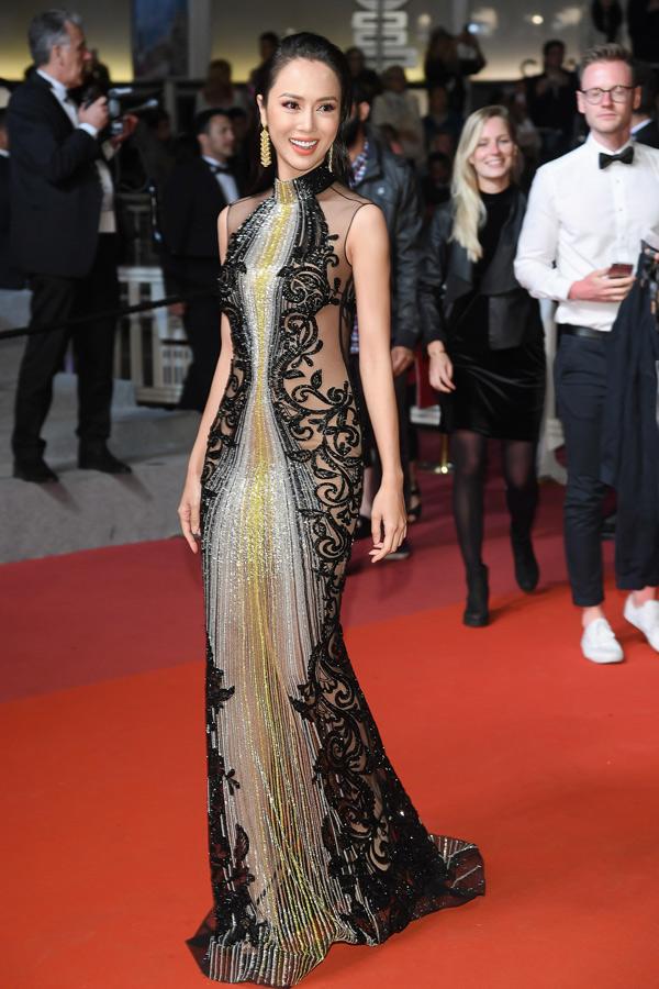 Cô rất vui vì có dịp gặp gỡ nhiều ngôi sao đình đám của thế giới tại Cannes.