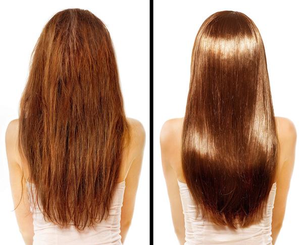 Mặt nạ dưỡng tóc Dùng bã cà phê trộn với một chút nước ấm, thoa lên tóc, ủ trong khoảng 20 phút rồi gội sạch lại. Chất chống oxy hóa trong bã cà phê sẽ giúp phục hồi độ bóng và làm mềm tóc.