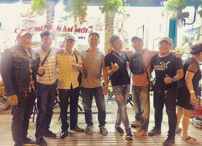 Các thành viên chủ chốt trong nhóm Hiệp sĩ Sài Gòn của Long.