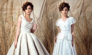 Hoa hậu người Nga diện váy cổ điển của Lê Thanh Hoà