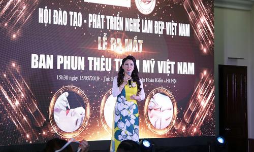 Hoa hậu Xuân Hương đảm nhiệm vị trí Trưởng ban Phun thêu thẩm mỹ Việt Nam
