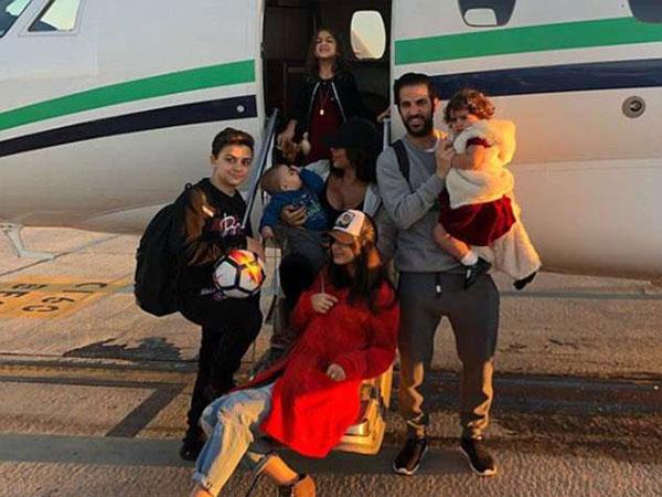 Gia đình đông đúc của Fabregas.