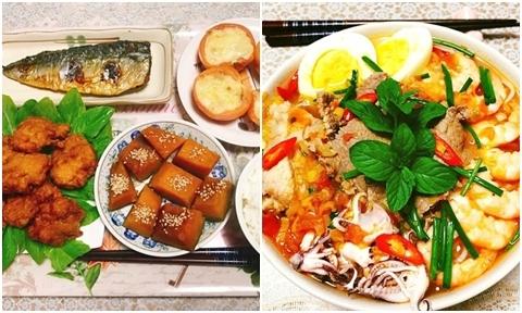 Mâm cơm 'Việt - Nhật kết hợp' của nàng dâu Hải Dương