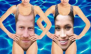 'Fan cuồng' in hình Hoàng tử Harry và Meghan lên đồ bơi