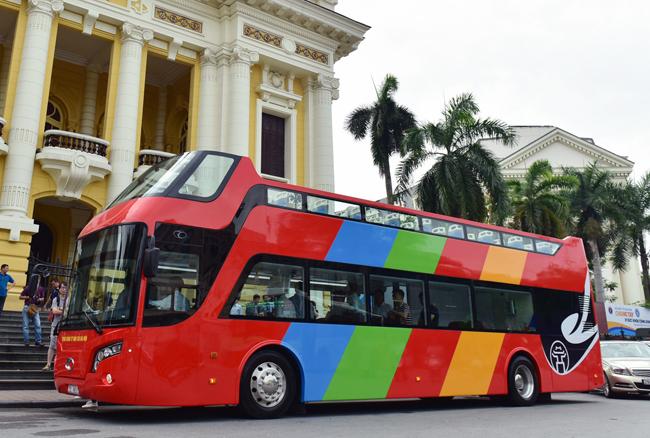 Cuối tháng 5, xe buýt hai tầng phục vụ du khách ở Hà Nội sẽ hoạt động - ảnh 1
