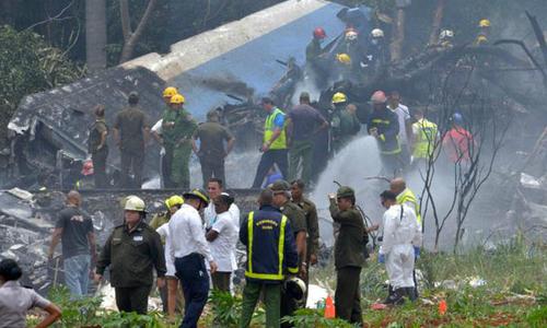 Máy bay chở 105 người rơi ở Cuba