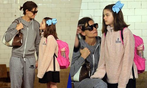 Suri Cruise đi học bằng tàu điện ngầm dù bố mẹ là ngôi sao điện ảnh giàu có