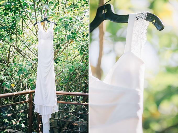 Một chiếc váy trơn đơn giản:Số lượng hạt cườm và ngọc trai lấp lánh không phản ánh giá trị của một chiếc váy. Một chiếc váy cưới đẹp sẽ là váy mới, không nhăn nhúm. Nếu có quá nhiều thứ được đính kết trên váy, tổng thể thiết kế sẽ trở nên nặng nề, thiếu sự gắn kết và trông giống hàng rẻ tiền.