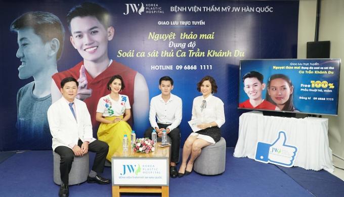 Câu chuyện của hot boy 9X được chia sẻ tại livstream của Bệnh viện thẩm mỹ JW Hàn Quốc.