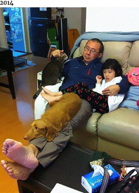Những bức ảnh ngày ấy - bây giờ của ông bố Hong Kong với con gái và thú cưng - 2