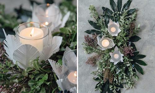 Cách làm đồ trang trí cốc nến cho tiệc cưới phong cách Gatsby