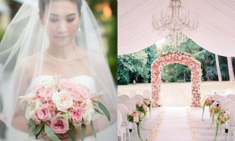 6 cách kết hợp màu hồng cho đám cưới trong mơ