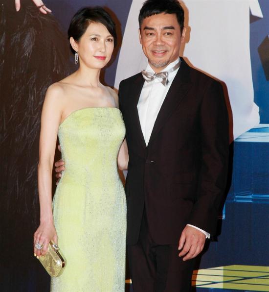 Nam diễn viên Lưu Thanh Vânvà bà xã QuáchÁi Minh.
