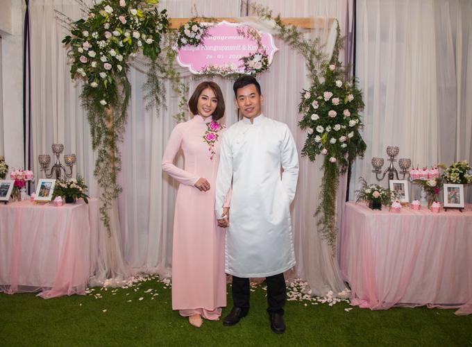 Chồng sắp cưới của Kim Nhã là anh Nattapol Phongsupasamit (tên thân mật Nat Chan) đến từ Thái Lan. Cả hai rạng rỡ trong lễ ăn hỏi ngày 26/5/2018 sau một năm hẹn hò.