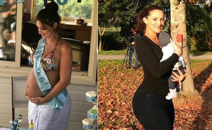 Sophie Brussaux mang bầu và sinh một bé trai, đặt tên là Adonis.