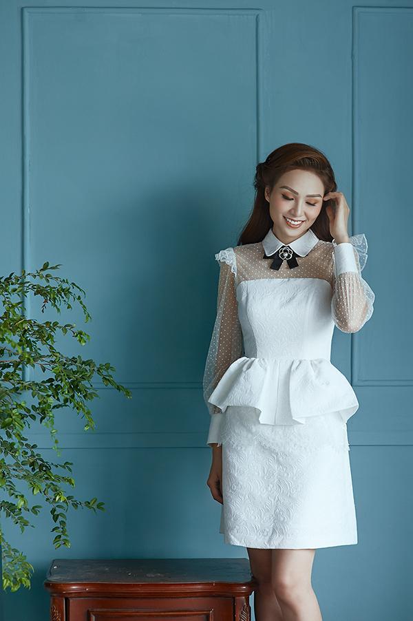 Trang phục cho các bạn gái yêu phong cách tiểu thư với phom dáng váy peplum