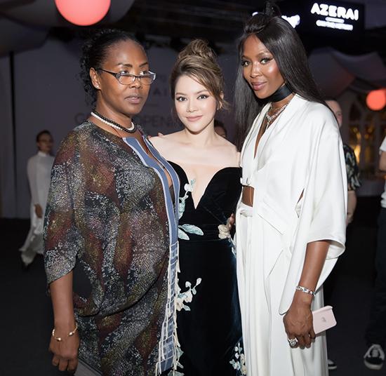 Tối ngày 2/6, siêu mẫu nổi tiếng thế giới đã góp mặt tại một sự kiện được tổ chức tại Cần Thơ. Bên cạnh Naomi Campbell chương trình còn có sự tham gia của các người đẹp Việt như Lý Nhã Kỳ, Lan Khuê, Ngọc Hân, Phương Mai.