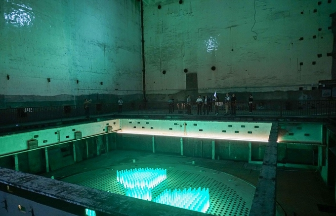 Trình diễn ánh sáng ở cơ sở hạt nhân ngầm Trung Quốc