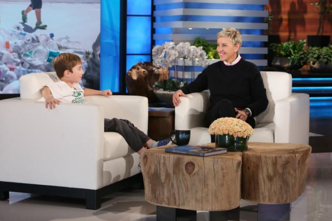 CEO nhí được mời đến show Ellen nổi tiếng. Ảnh:Ellen Show.