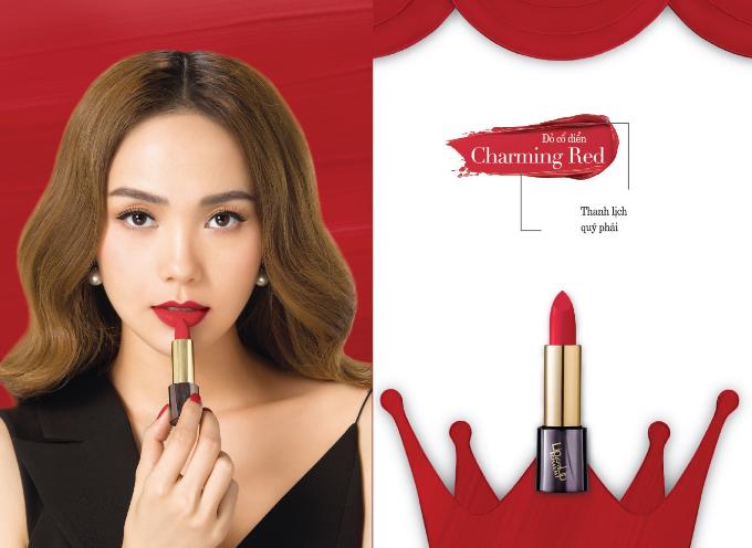 Charming Red -Đỏ Cổ ĐiểnNếu nàng nào yêu thích sự thanh lịch quý phái thì Charming Redvới màu sắc nổi bật, tinh tế chính là cây son mà bạn đang tìm kiếm.