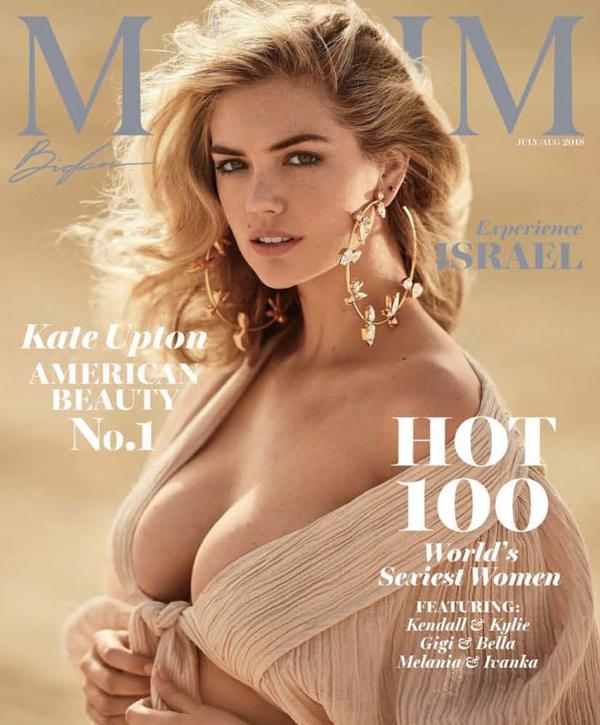 Kate Upton lên trang bìa tạp chí Maxim tháng 7 với danh hiệu Người phụ nữ đẹp nhất nước Mỹ năm 2018. Các sao nữ từng được bầu chọn những năm trước là người mẫu Hailey Baldwin, Stella Maxwell, ca sĩ Taylor Swift, Miley Cyrus...