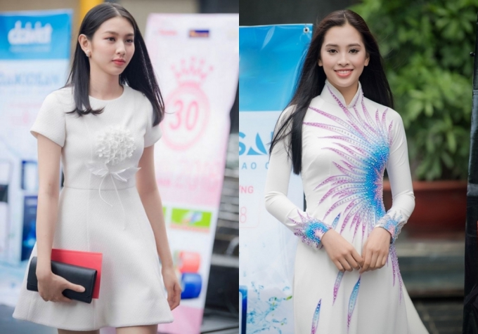 Đỗ Mỹ Linh khoe vai trần khi đi chấm Hoa hậu Việt Nam 2018 - 10