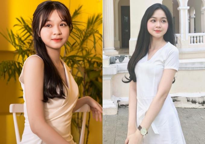 3. Năm nay, trường Đại học Ngoại thương có đến ba thí sinh lọt vàochung khảo phía Nam Hoa hậu Việt Nam. Nguyễn Thị Nhật Minh, sinh năm 1999, cao 1,66m là cái tên thứ 3 được ban giám khảo đi tiêp ở vòng trong.