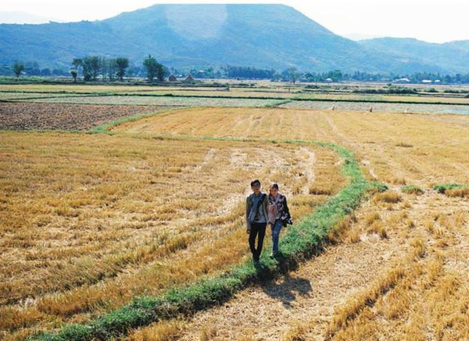 Dưới ống kính của nhiếp ảnh gia, cánh đồng mùa gặt cũng có thểtrở thành một điểm chụp ảnh nên thơ, lãng mạn. Thế Huân cho rằng các cặp cô dâu chú rể không nên đặt nặng về hình cưới bởi Những bức ảnh ghi lại từng khoảnh khắcvui vẻbên nhau đã là ảnh đẹp. Các bạn có thể lựa chọn chụp ảnh filmvì chúng cósự thú vịvề thị giác hơnso với ảnh kỹ thuật số.
