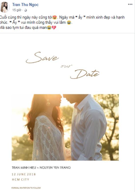 Hình ảnh được cho là thiệp cưới của Thùy Trang.