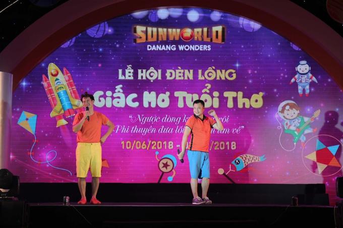 Xuân Bắc, Tự Long xuất hiện trong đêm khai mạc lễ hội đèn lồng Đà Nẵng - ảnh 1