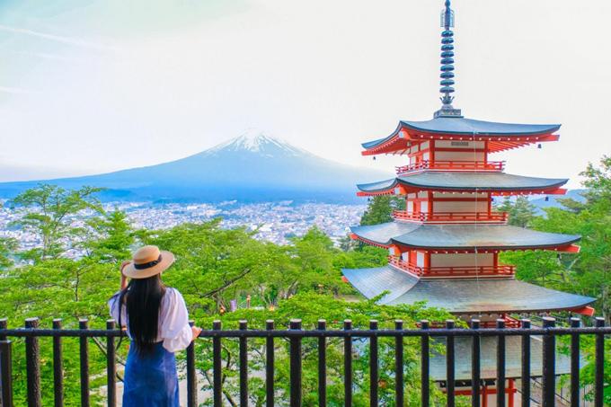 6 điểm chụp ảnh núi Phú Sĩ giống hệt postcard - ảnh 1