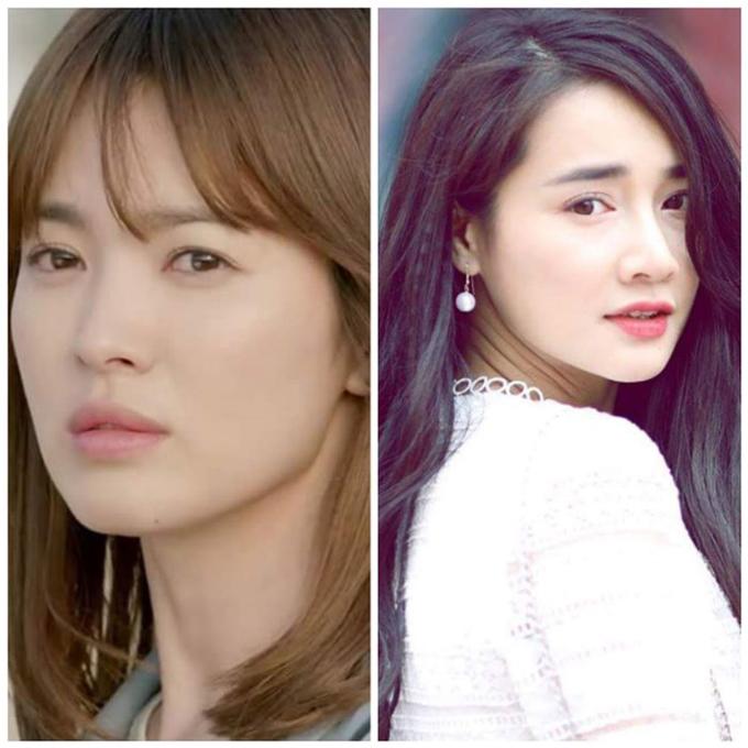 Nhã Phương đảm nhận vai của Song Hye Kyo.