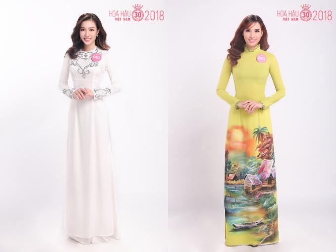 30 thi sinh Hoa hau VN dien ao dai do net duyen dang