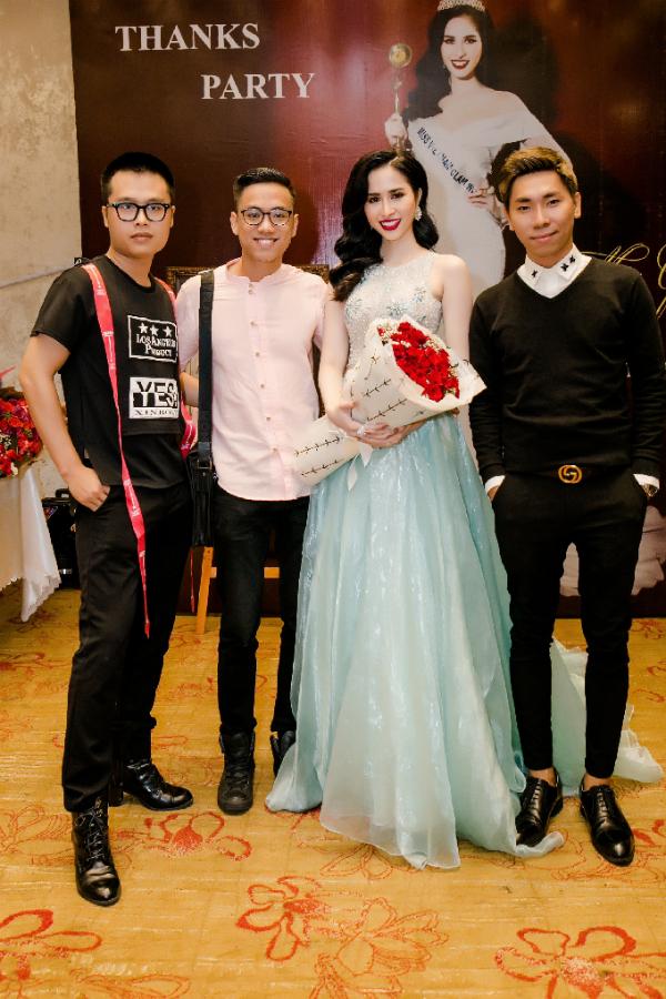 Hoa hau duoc yeu thich nhat Miss Glam World Princess Ngoc Han thay hai bo vay tai su kien