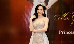 Hoa hậu được yêu thích nhất Miss Glam World Princess Ngọc Hân thay hai bộ váy tại sự kiện